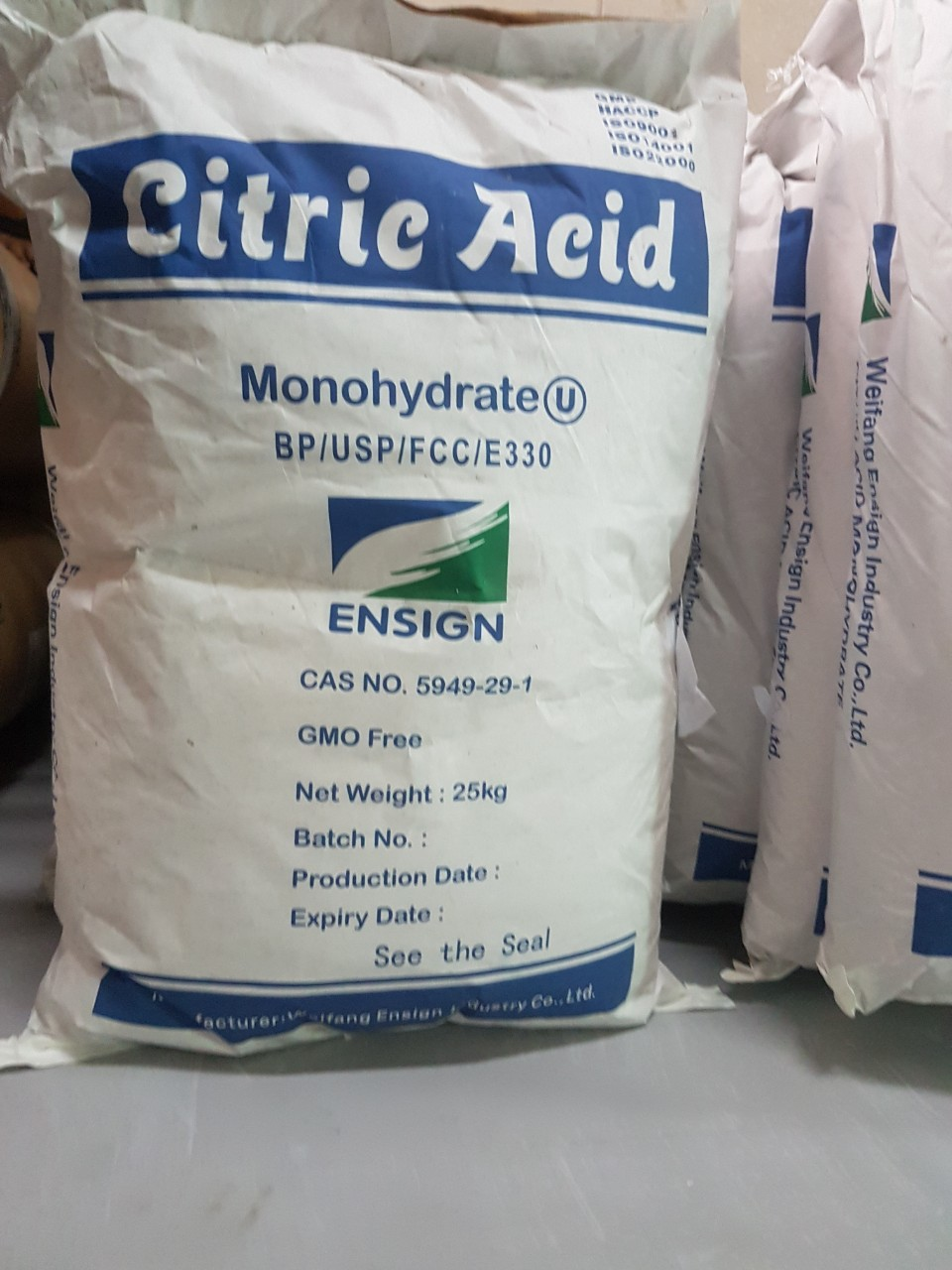 Kết quả hình ảnh cho ACID CITRIC MONOHYDRATE E330